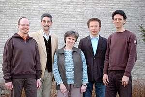 Das Leitungsteam freut sich auf den Umzug. V.l.: Andreas Fuhl, Gerhard Janz, Renate Patan, Andreas Pfläging und Alexander Weiland