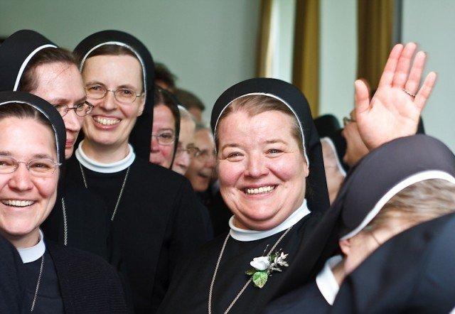 Schwester Bernadette Maria Blommel feierte ihr 25-järiges Ordensjubiläum.
