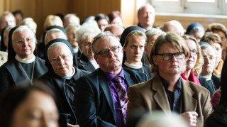 Die fast 200 Zuhörer folgten dem Vortrag aufmerksam und gespannt. Foto: SMMP/Bock