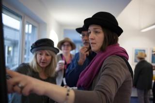 Die Hut-Gruppe bei der Arbeit an einer gemeinsamen Vision. (Foto: SMMP/Beer)