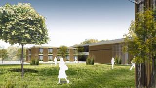 Das neue Haus St. Martin in Herten-Westerholt mit den Senioren-WGs ist zweigeschossig geplant und besteht aus mehreren Gebäudezeilen. Grafik: Maas und Partner