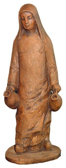 Diese Tonfigur zeigt die selige Martha le Bouteiller.