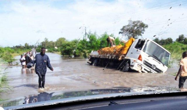Überschwemmungen gibt es, aber die Schäden sind nur gering. Für die Standorte der Ordensgemeinschaft in Mosambik besteht nach dem Zyklon erst einmal Entwarnung. Foto: Sr. Leila de Souza/SMMP